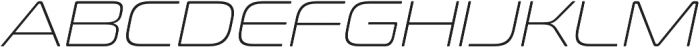 Conthrax ExtraLight Italic otf (200) Font UPPERCASE