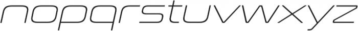 Conthrax ExtraLight Italic otf (200) Font LOWERCASE