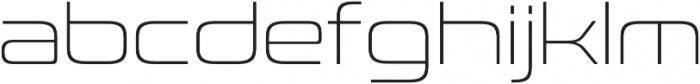 Conthrax ExtraLight otf (200) Font LOWERCASE
