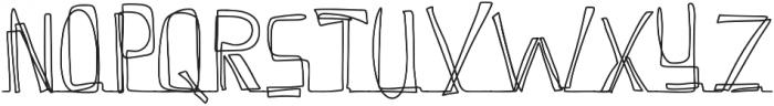 Continuity Regular otf (400) Font UPPERCASE