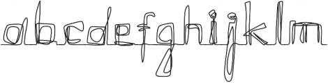 Continuity Regular otf (400) Font LOWERCASE