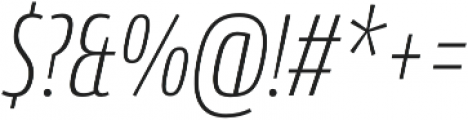 Conto Compressed ExLight Italic otf (300) Font OTHER CHARS