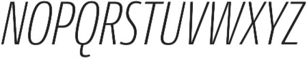 Conto Compressed ExLight Italic otf (300) Font UPPERCASE