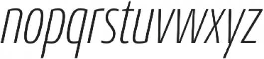 Conto Compressed ExLight Italic otf (300) Font LOWERCASE