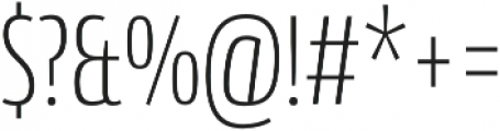 Conto Compressed ExLight otf (300) Font OTHER CHARS