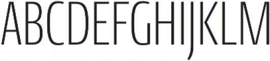 Conto Compressed ExLight otf (300) Font UPPERCASE