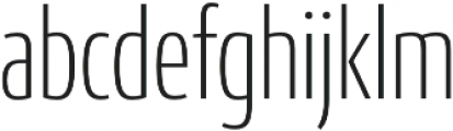 Conto Compressed ExLight otf (300) Font LOWERCASE