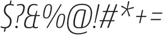 Conto Condensed ExLight Italic otf (300) Font OTHER CHARS