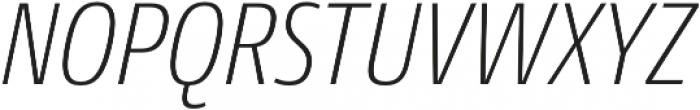 Conto Condensed ExLight Italic otf (300) Font UPPERCASE