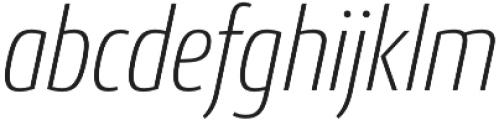 Conto Condensed ExLight Italic otf (300) Font LOWERCASE