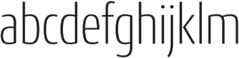 Conto Condensed ExLight otf (300) Font LOWERCASE