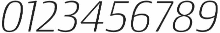 Conto ExLight Italic otf (300) Font OTHER CHARS