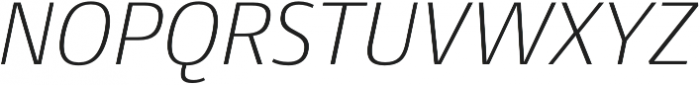 Conto ExLight Italic otf (300) Font UPPERCASE