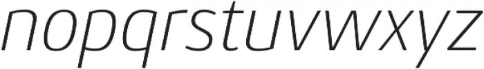 Conto ExLight Italic otf (300) Font LOWERCASE