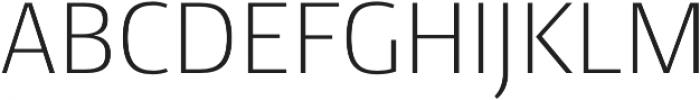 Conto ExLight otf (300) Font UPPERCASE