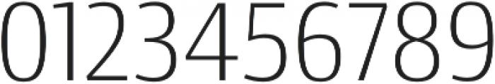 Conto Narrow ExLight otf (300) Font OTHER CHARS