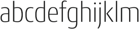 Conto Narrow ExLight otf (300) Font LOWERCASE