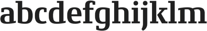 Conto Slab Basic otf (700) Font LOWERCASE