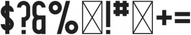 Contraband Regular otf (400) Font OTHER CHARS
