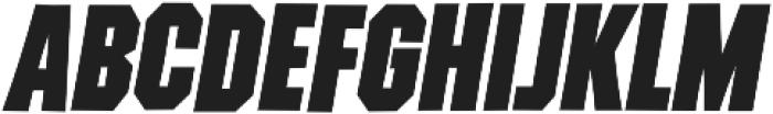 Contraption Black Oblique otf (900) Font UPPERCASE