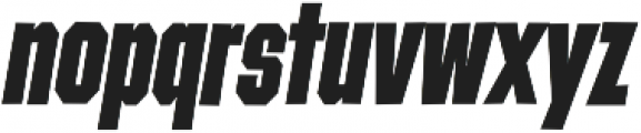 Contraption Narrow Black Oblique otf (900) Font LOWERCASE
