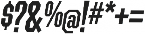 Contraption Narrow Bold Oblique otf (700) Font OTHER CHARS