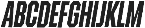 Contraption Narrow Bold Oblique otf (700) Font UPPERCASE