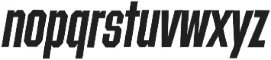 Contraption Narrow Bold Oblique otf (700) Font LOWERCASE