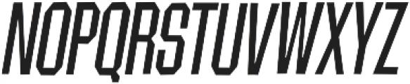 Contraption Narrow Oblique otf (400) Font UPPERCASE