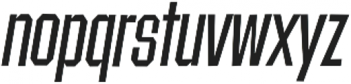 Contraption Narrow Oblique otf (400) Font LOWERCASE