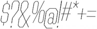 Contraption Narrow Thin Oblique otf (100) Font OTHER CHARS