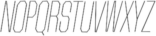 Contraption Narrow Thin Oblique otf (100) Font UPPERCASE