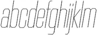 Contraption Narrow Thin Oblique otf (100) Font LOWERCASE