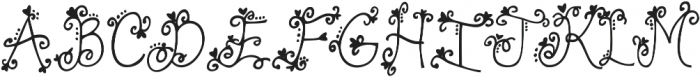 Contrary Mary ttf (400) Font UPPERCASE