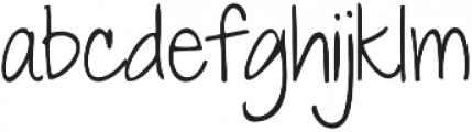 Contrary Mary ttf (400) Font LOWERCASE