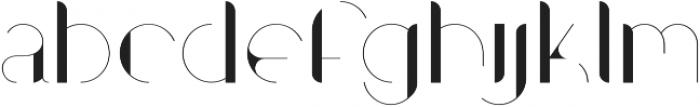 Contrasto otf (400) Font LOWERCASE
