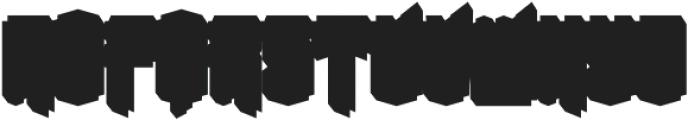 Convexa shadow otf (400) Font UPPERCASE