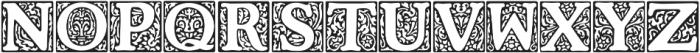 Cooper Initials Medium otf (500) Font UPPERCASE