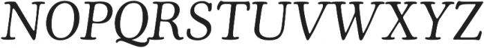 Cooper Italic otf (400) Font UPPERCASE