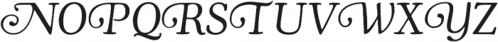 Cooper Swash Italic otf (400) Font UPPERCASE