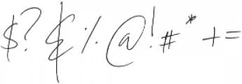 Coral Blush Script ttf (400) Font OTHER CHARS