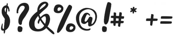 Coralia Bold otf (700) Font OTHER CHARS
