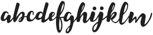 Coralia Bold otf (700) Font LOWERCASE