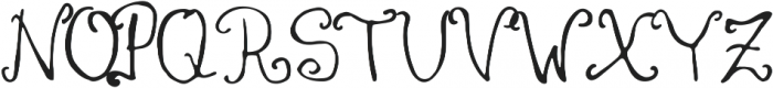 Coralie ttf (400) Font UPPERCASE