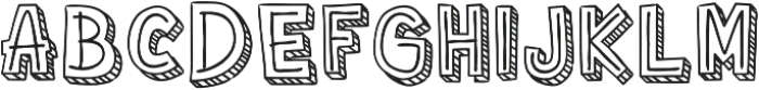 Corat Coret Complete One otf (400) Font UPPERCASE