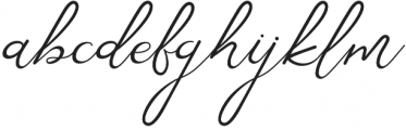 Corlita Script otf (400) Font LOWERCASE