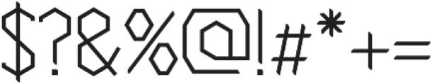 Cornera Extended Regular otf (400) Font OTHER CHARS