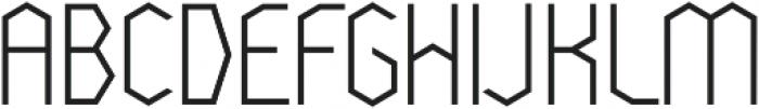 Cornera Extended Regular otf (400) Font UPPERCASE