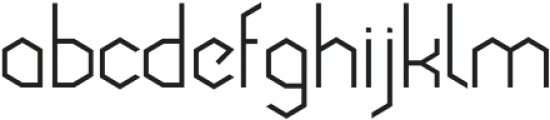 Cornera Extended Regular otf (400) Font LOWERCASE