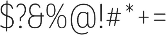 CorpSansRd Alt Light Cnd otf (300) Font OTHER CHARS